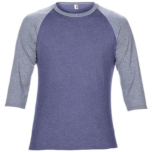 74bd947b Anvil Unisex Two Tone Tri-Blend 3/4 Sleeve Raglan T-Shirt | Amazon.com