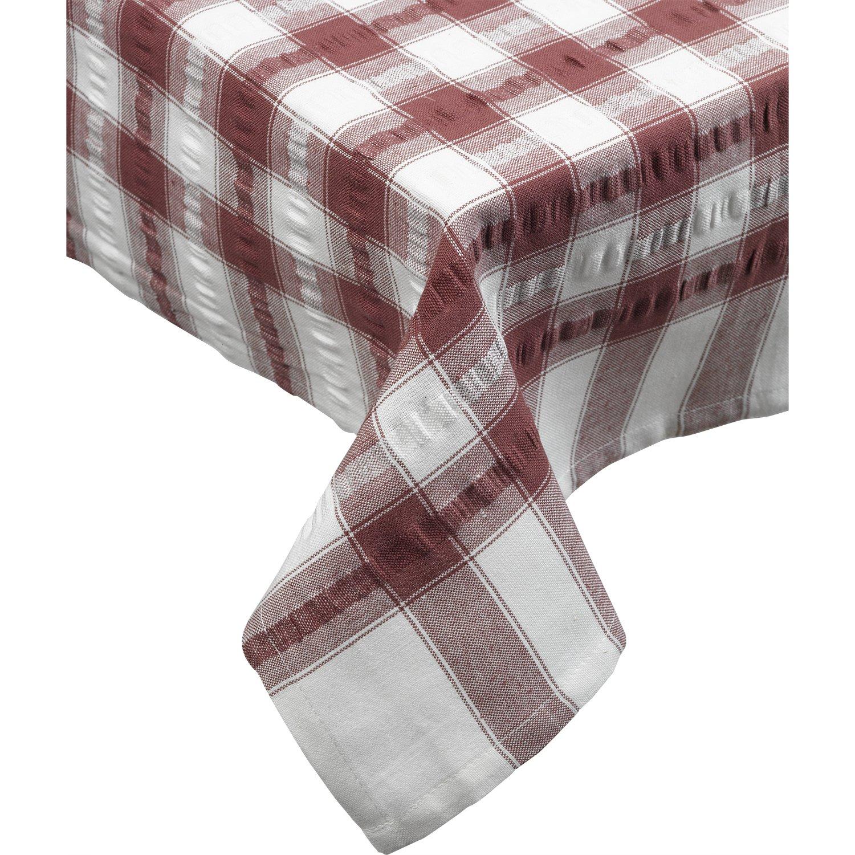 amazon com seersucker oblong rectangle checked tablecloth