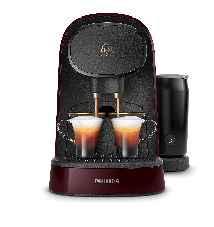 Philips LOr Barista LM8014/80 Cafetera Espumador de Leche, Compatible Individual y Cápsula Doble, 19 Bares de Presión, 12 Variedades Incluyendo ...