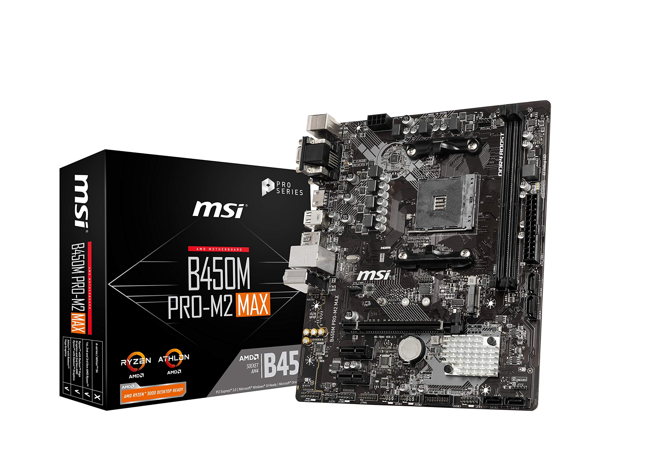 MSI ProSeries AMD Ryzen 1st and 2ND Gen B450M PRO-M2 Max