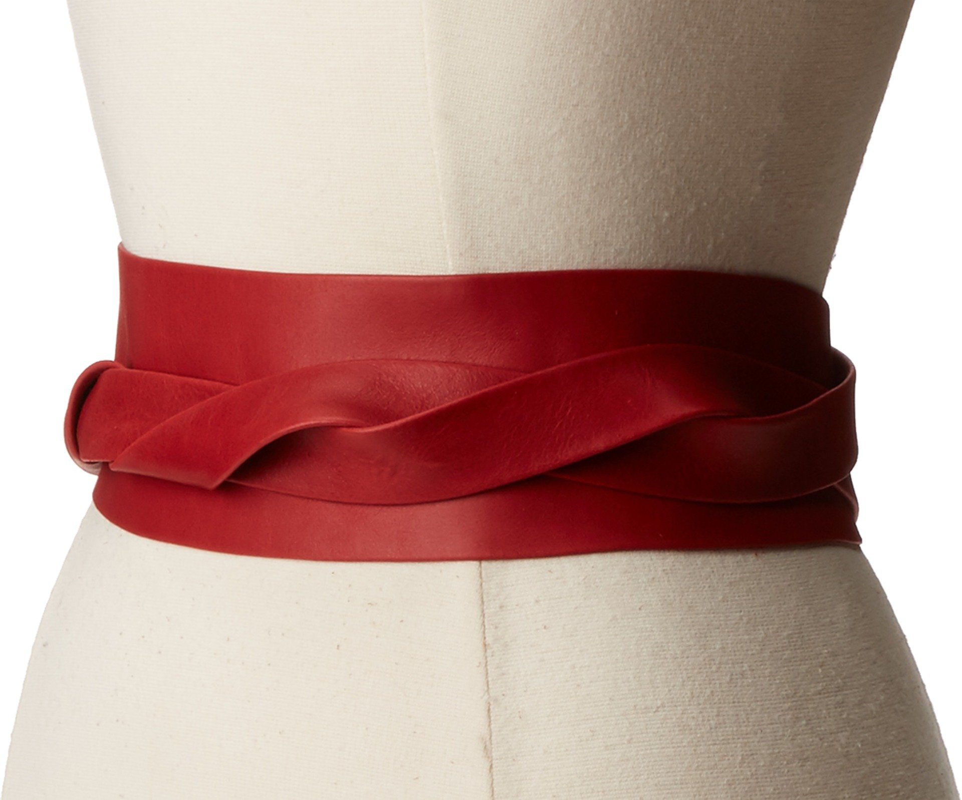 ADA Collection Women's Obi Classic Wrap Belt Upsdell Red One Size