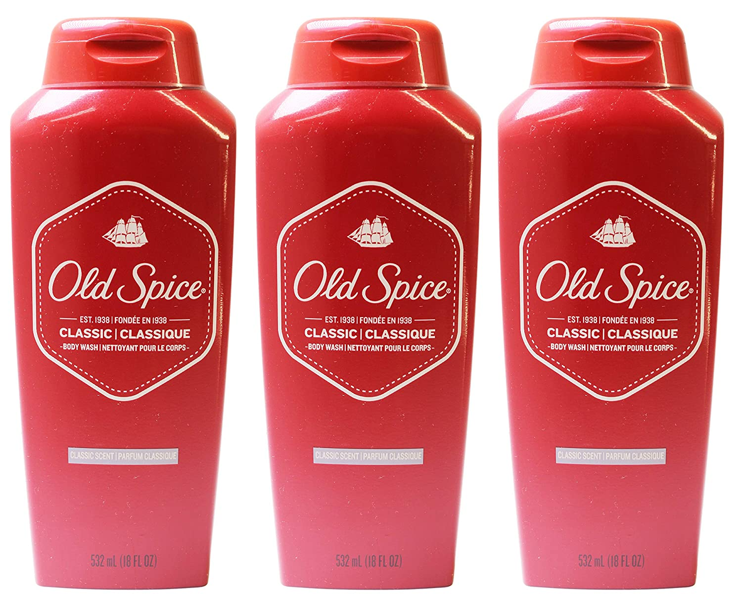 Old Spice Classic Scent Men's Body Wash 18 Fl Oz (Pack of 6) P & G PROCTER131102