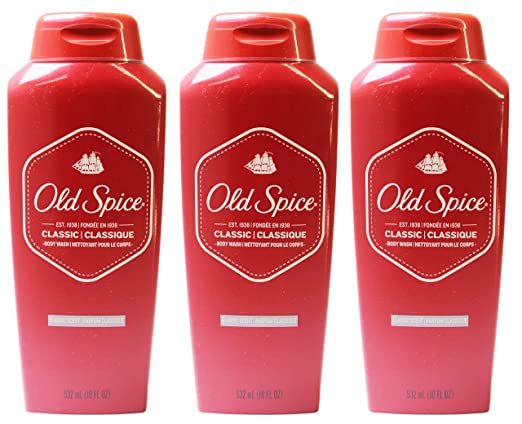 Old Spice Classic Scent Men's Body Wash 18 Fl Oz (Pack of 3)