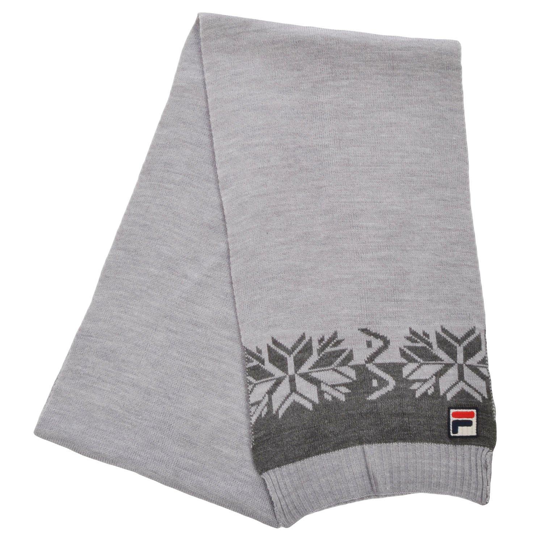 Fila F Box Vintage Unisex Winter Woolie Nordic Scarf Scarves - Grey - OS