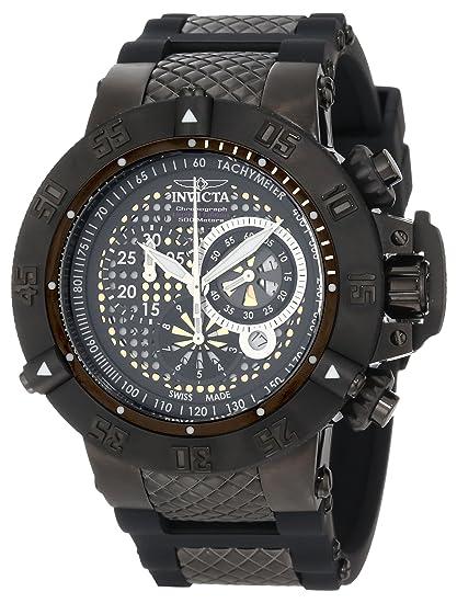 Invicta 6043 - Reloj de Pulsera Hombre, Acero Inoxidable, Color Negro