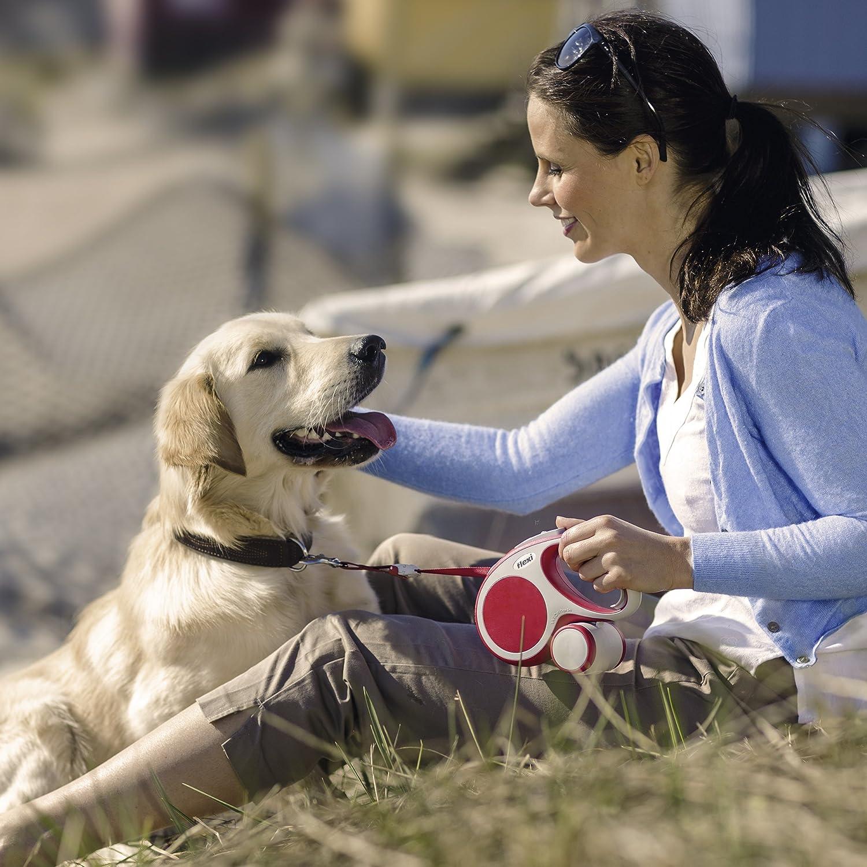 flexi Vario Small Retractable Dog Leash Tape 16'/5m, Red VA10T5.210.R