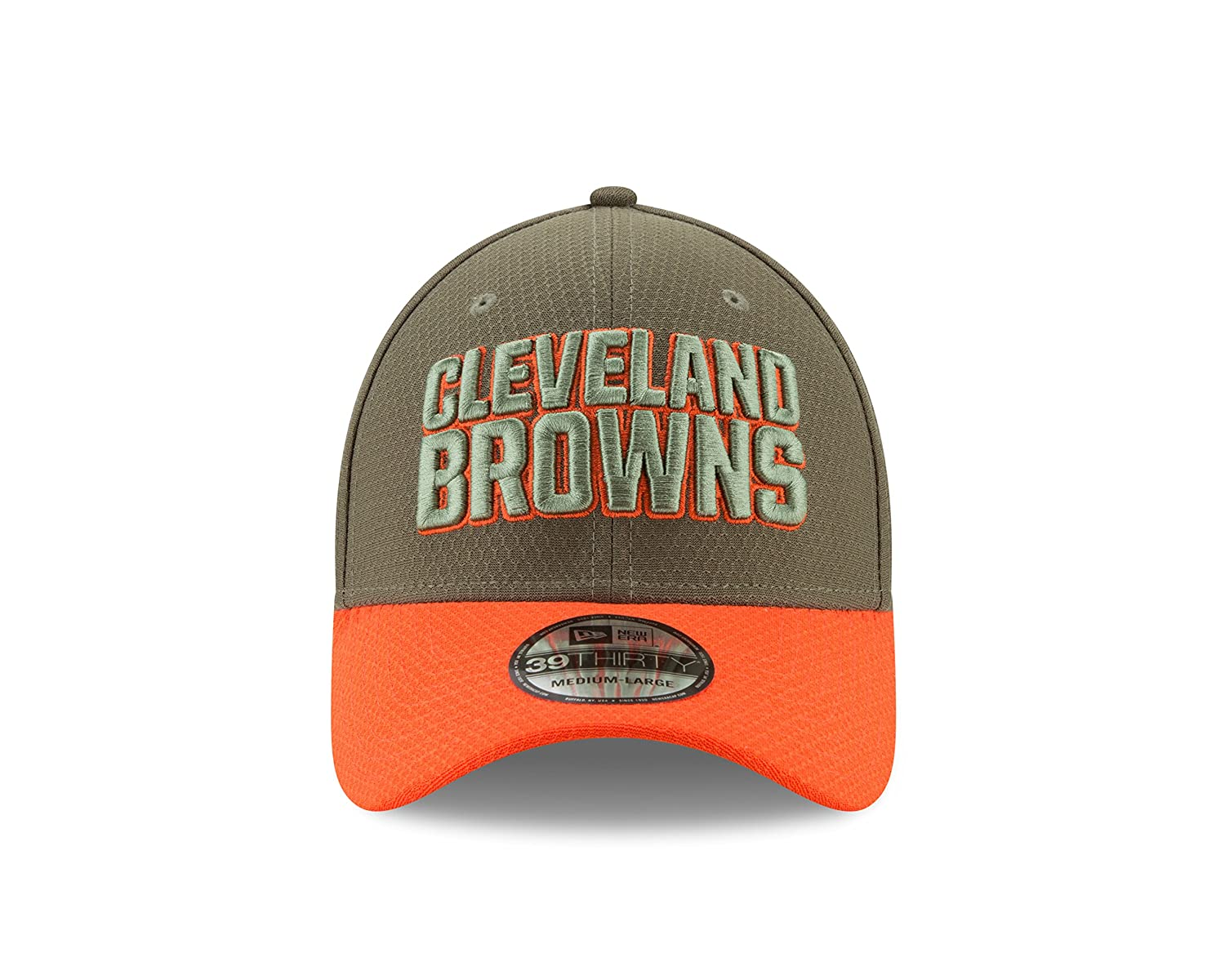 purchase cheap 98567 43416 Amazon.com   Cleveland Browns New Era 2017 Salute To Service 39THIRTY Flex  Hat - Olive   Sports   Outdoors