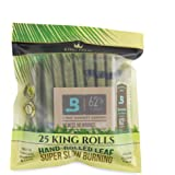 King Palm King Size Cones (1 Pack of 25, 25 Rolls Total) Natural Pre Wrap Palm Leafs - Pre Rolled Cones - All Natural Cones -