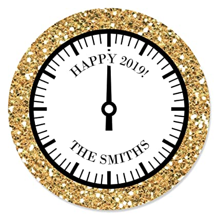 big dot of happiness custom new years eve gold personalized 2019 new years eve
