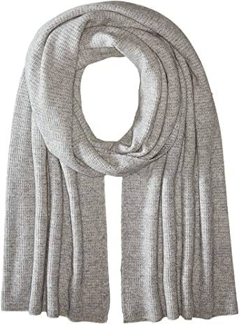 Vince Thermal Womens Wool /& Cashmere Scarf Grey