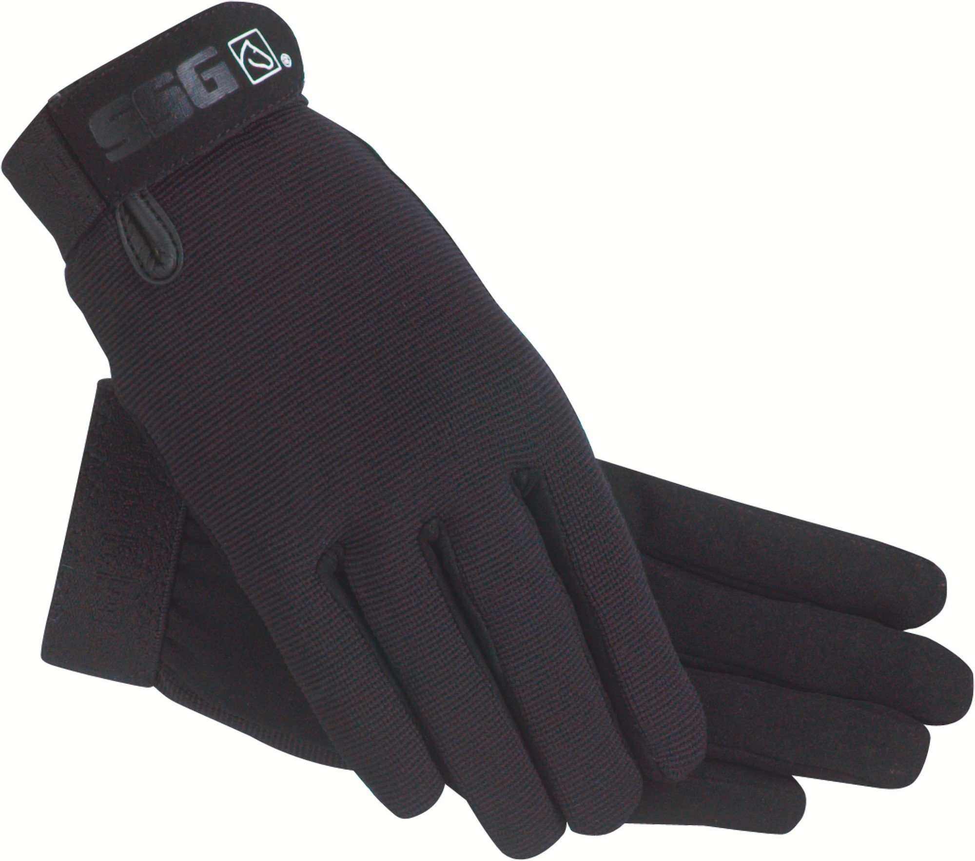 SSG All Weather Riding Gloves Childs Black/Black