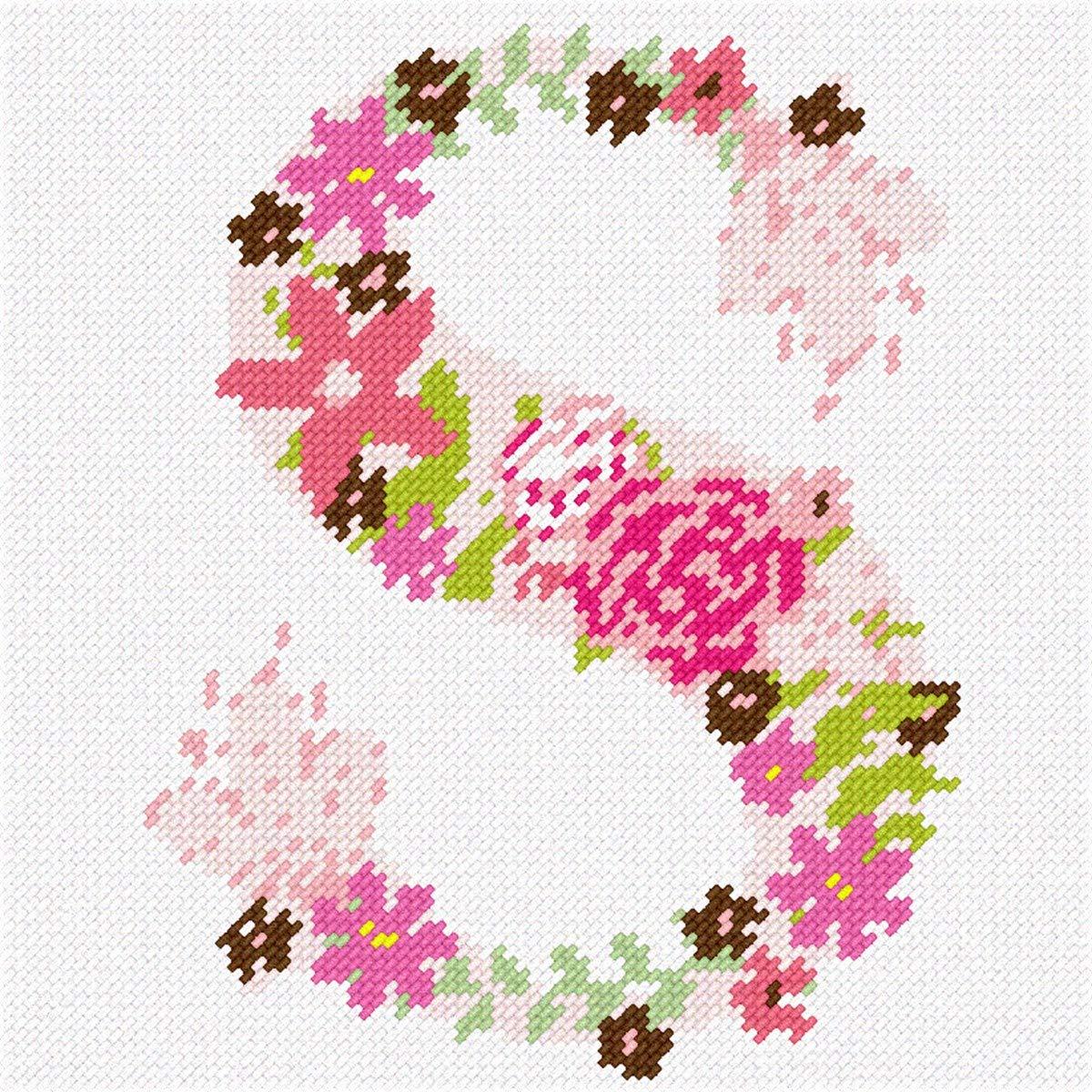 pepita I Love Purple Flower Needlepoint Kit