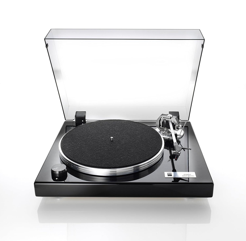 DUAL CS 600 Plattenspieler (Klavierlack, Riemenantrieb) Schwarz ...