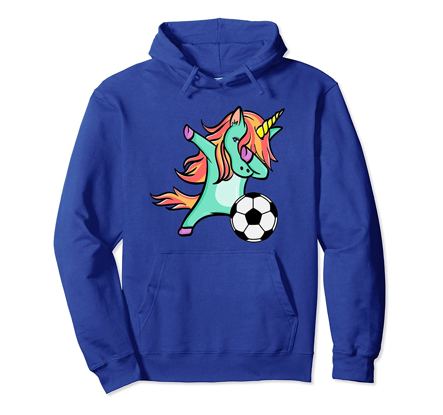 d140d71f838 Funny Soccer Shirts Dabbing Unicorn Hoodie Sports Lover Gift-prm – Paramatee