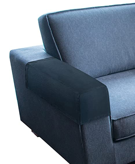 Kleeger Premium Sofa Armrest Cover Set Elastic Slipcovers For Couches Armchairs Recliners Set Of 2 Deep Slate Grey