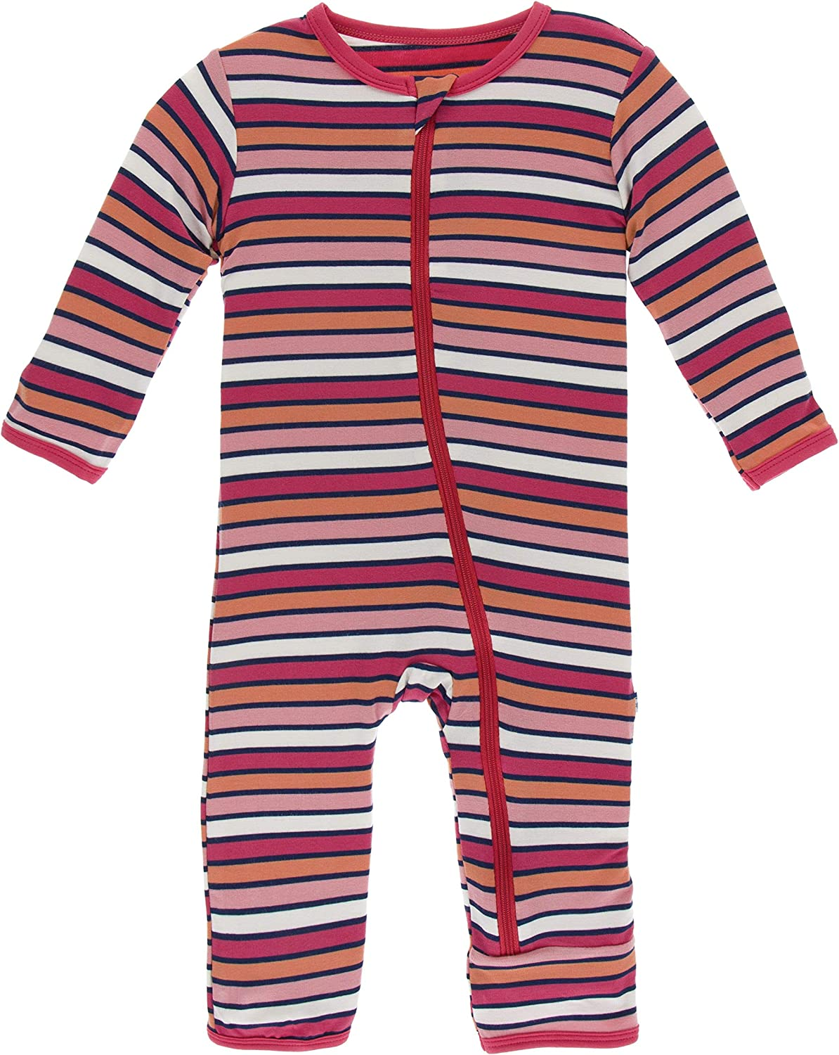 KicKee Pants Little Boys and Girls Essentials Print Coverall with Zipper