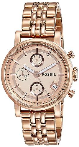Fossil Reloj Análogo clásico para Mujer de Cuarzo con Correa en Acero Inoxidable ES3380: Fossil: Amazon.es: Relojes