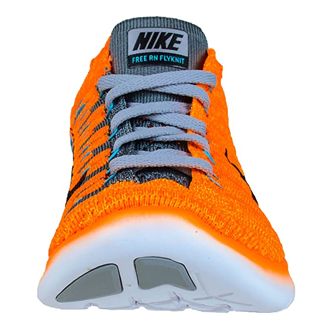 official photos a23cd 8e4a3 Amazon.com   Nike Women s Free Running Motion Flyknit Shoes, Laser Orange Gamma  Blue Cool Grey Black - 7 B(M) US   Road Running