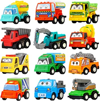 Amazon.com: Juego de 12 unidades de mini vehículos de ...