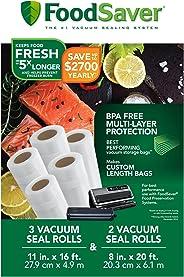 Sunbeam productos FSFSBF0746-P00 sellador al vacío rollos, Pack de 5.