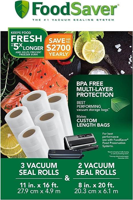 Amazon.com: FoodSaver - Rollos de sellado al vacío de 8 y 11 ...