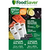 "FoodSaver 8"" & 11"" Rolls with unique multi layer construction, BPA free, Multi-Pack"