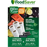 FoodSaver 8″ and 11″ Vacuum Seal Rolls Multipack | Make Custom-Sized BPA-Free Vacuum Sealer Bags