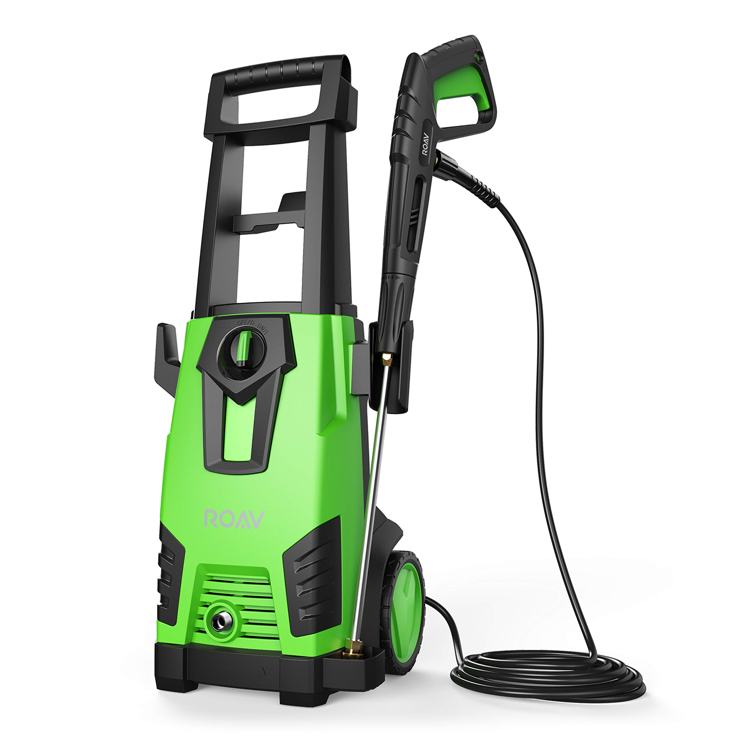 ROAV HydroClean, by Anker, Electric Pressure Washer, Power Washer with 2100 PSI, 1.78 GPM, Longer Cables and Hoses, and Detergent Tank, for Cleaning Cars, Houses Driveways, Patios, and More