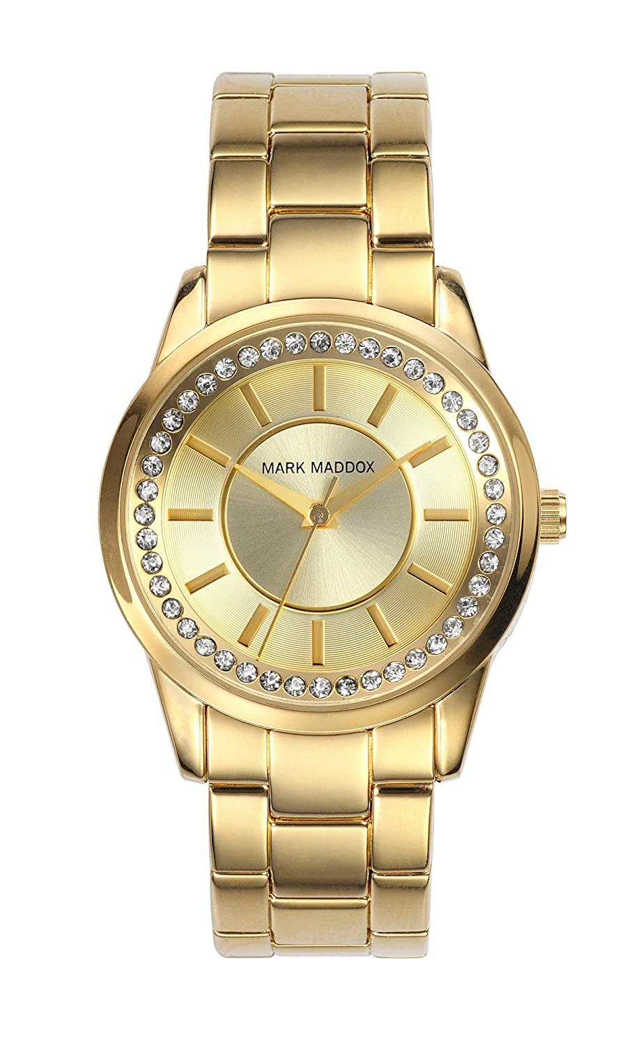 Mark Maddox Damen-Armbanduhr Analog Quarz Gold MM0007-27