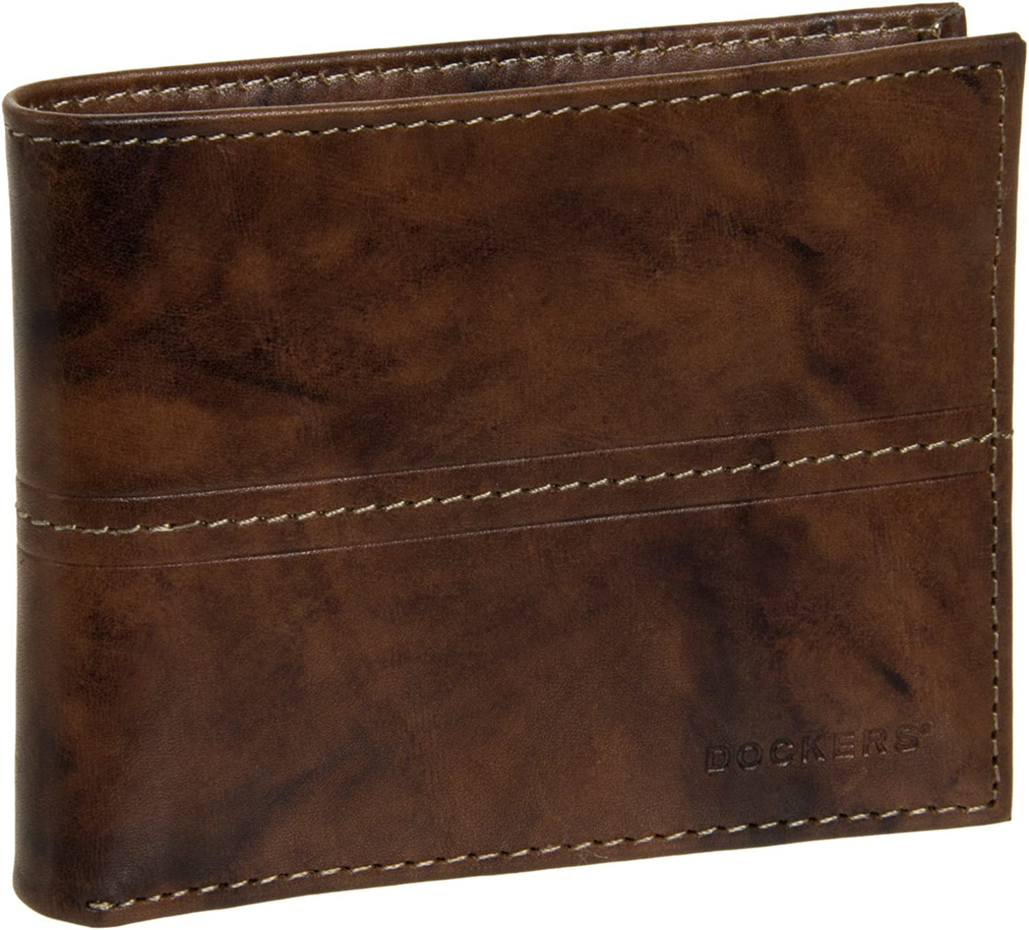 Non-Branded Mens Brown Leather Pocketmate Wallet w// Pull Out ID