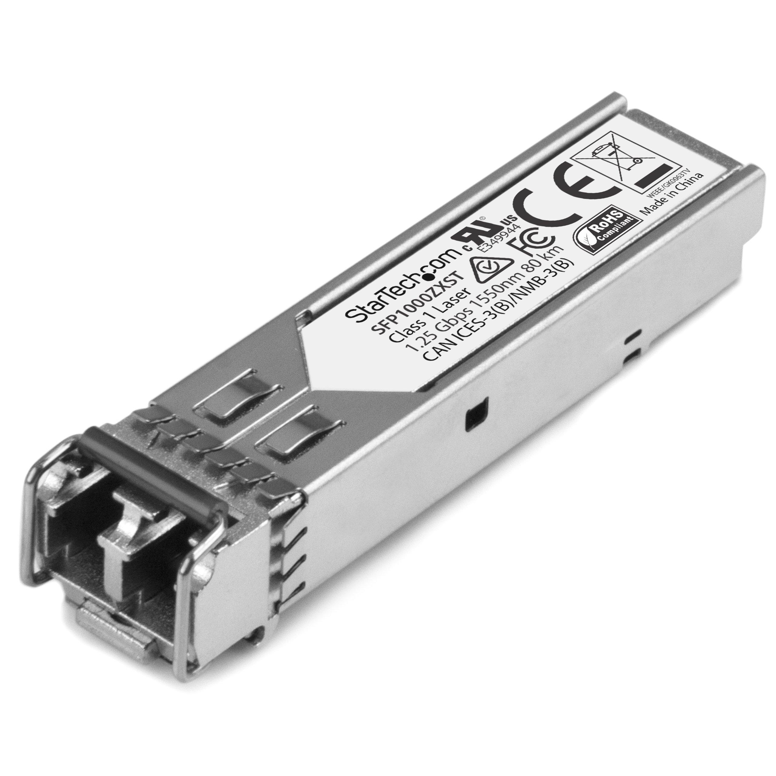StarTech.com 1000BASE-ZX SFP Transceiver Module - 1 Gbps - 80 km - MSA Compliant Fiber SFP by StarTech