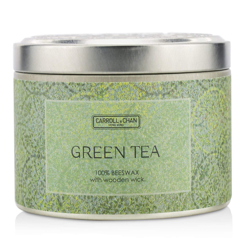 キャンドルカンパニー Tin Can 100% Beeswax Candle with Wooden Wick - Green Tea (8x5) cm B0779FYYF9