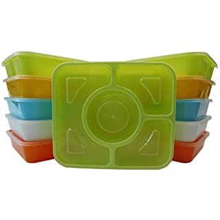 Table To Go 240-Pack Bento Lunch Boxes with Lids (4 Compartment/ 36 oz) (Multicolor Pack)