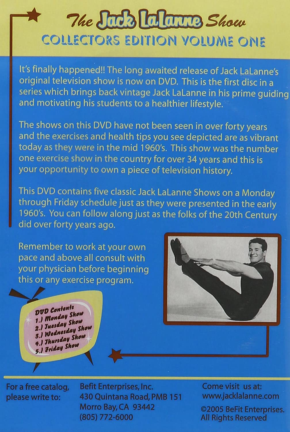 Amazon com: The Jack LaLanne Show Collector's Edition Volume 1: Jack