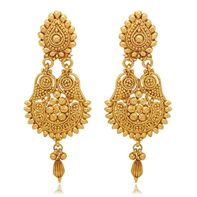 Buy YouBella Gold Plated Dangle Drop Earrings For Women Online at
