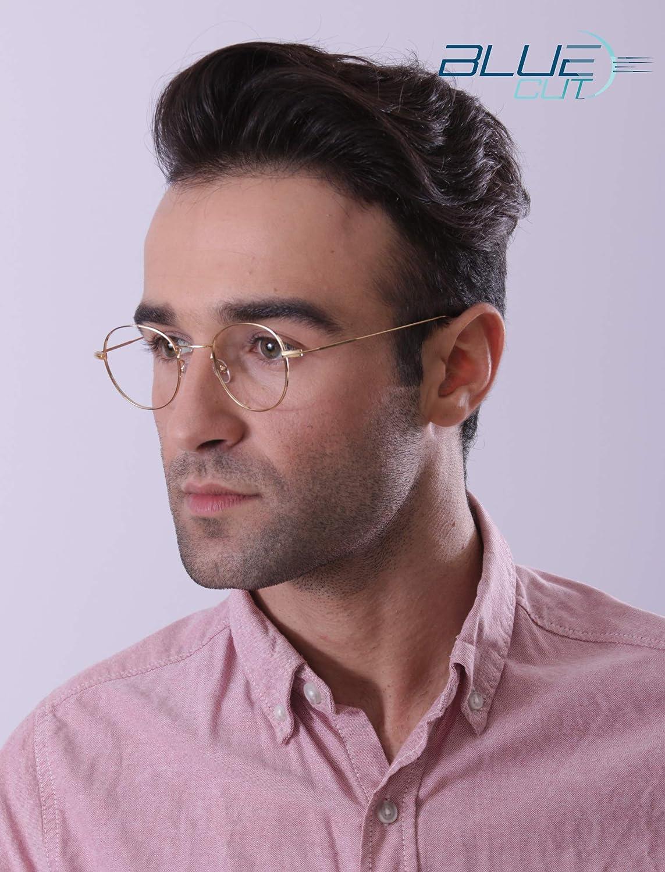 Blue Light Blocking Round Glasses Anti-Fatigue Non prescription Computer Glasses Prevent Headaches Gamer Glasses