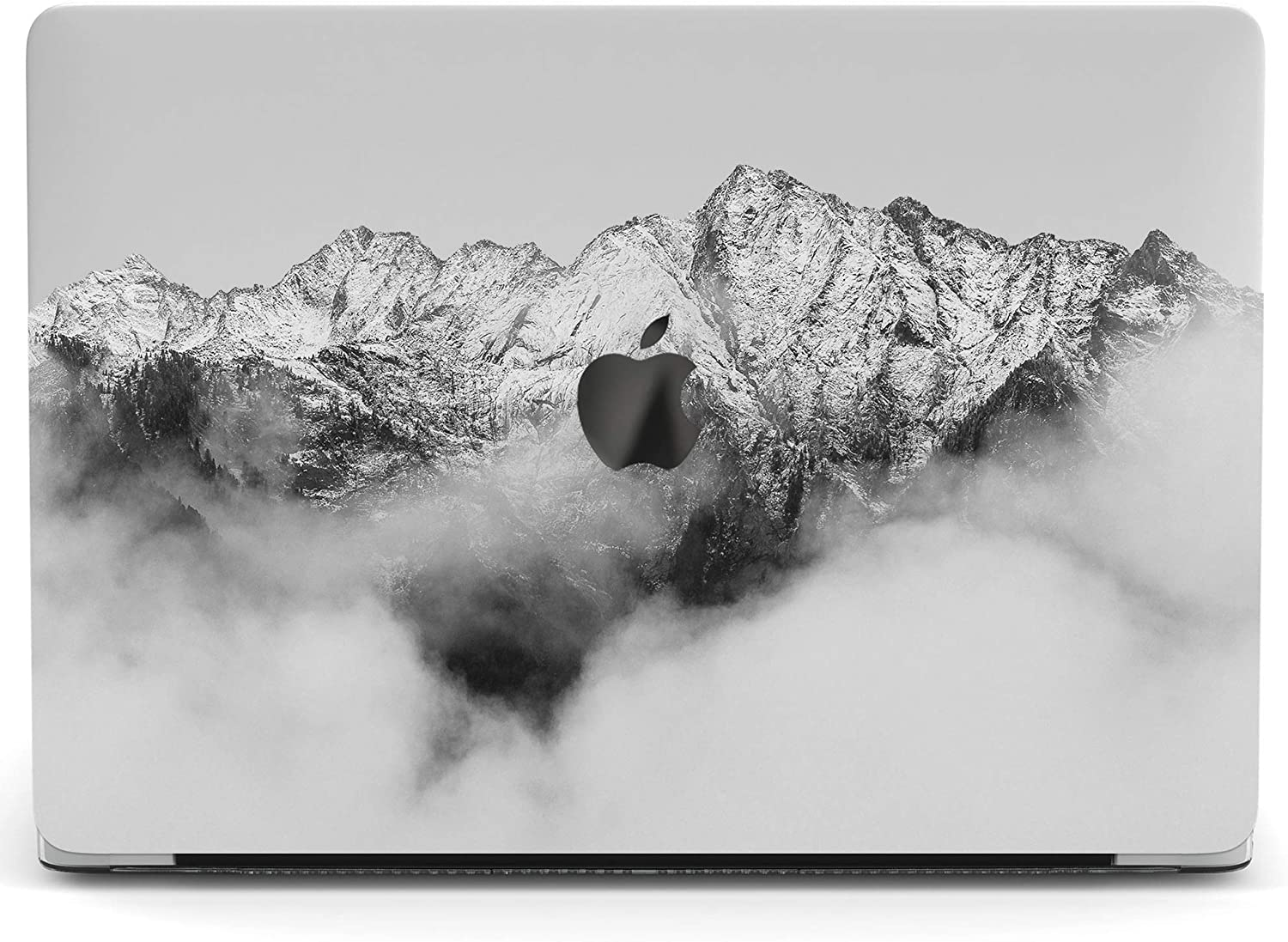 Wonder Wild Mac Retina Cover Case For MacBook Pro 15 inch 12 11 Clear Hard Air 13 Apple 2019 Protective Laptop 2018 2017 2016 2020 Plastic Print Touch Bar Nature Fog In The Mountains Snow White Clouds