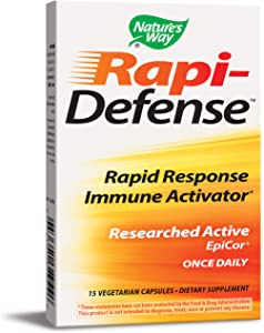 Rapi-Defense Rapid Response Immune Activator Researched Active EpiCor Once Daily 15 VCaps