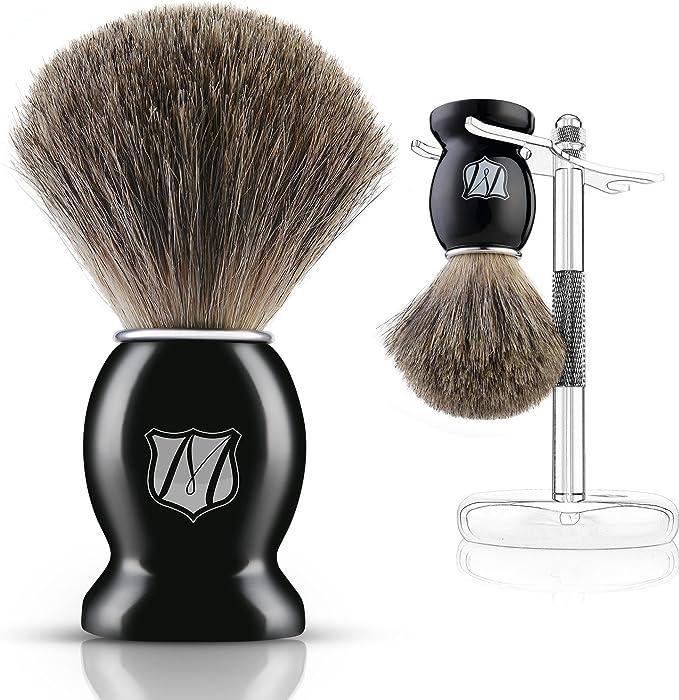 Miusco Premium 100% Pure Badger Hair Shaving Brush and Luxury ...