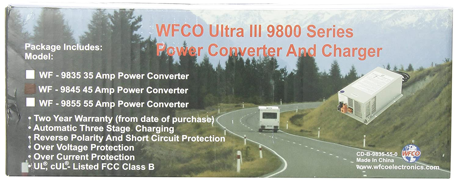 WFCO WF9845 Deck Mount 45 Amps Converter Charger
