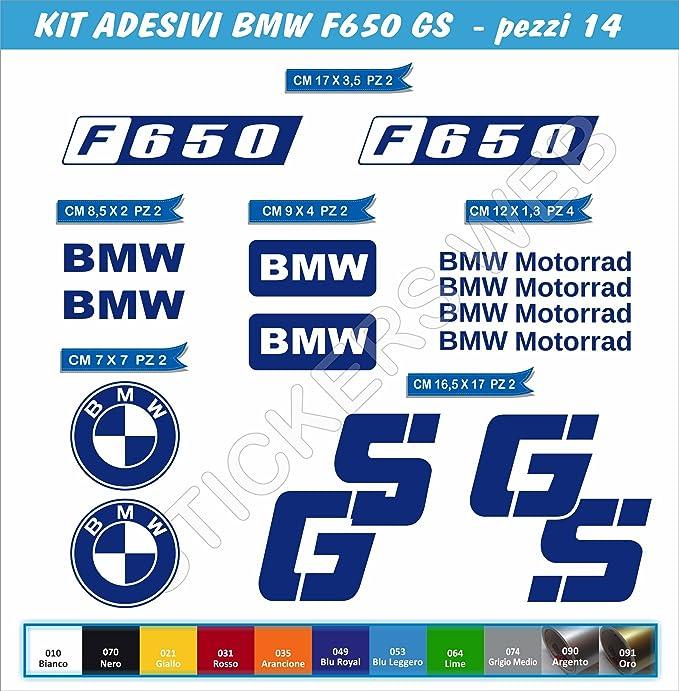 Juego de 14 pegatinas BMW F650GS F650 GS para moto – Color a elegir, código: 0061, Blu Royal cod. 049: Amazon.es: Deportes y aire libre