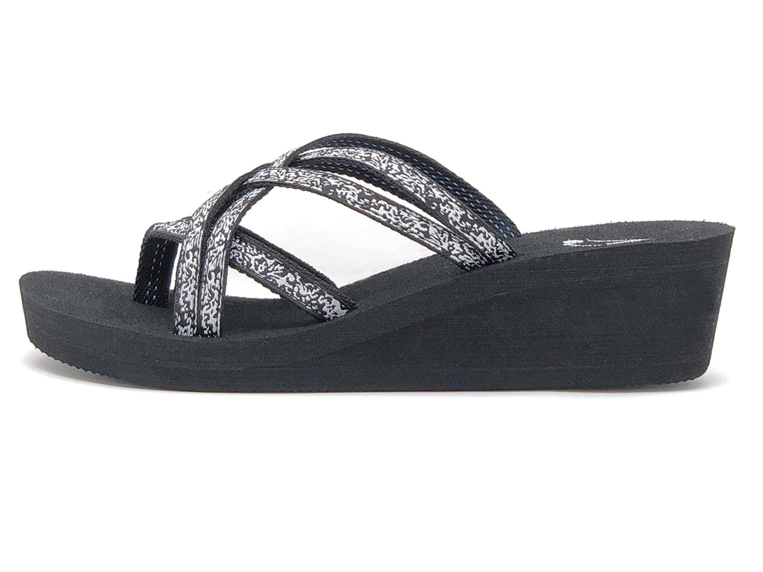 Viakix Wedge Flip Flops for Women – Comfortable, Stylish, Cute, Women's Strappy Sandal for Walking, Beach, Travel by Viakix (Image #4)
