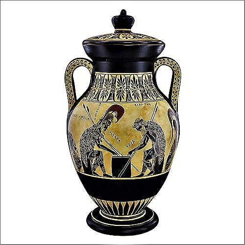 Achilles Ajax Exekias Ancient Greek Amphora Vase Museum Replica Handmade