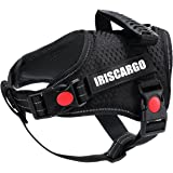 IrisCargo Dog Harness No Pull Vest Harness Adjustable Small Dog Puppy Harness Reflective Breathable, Small Size, Black