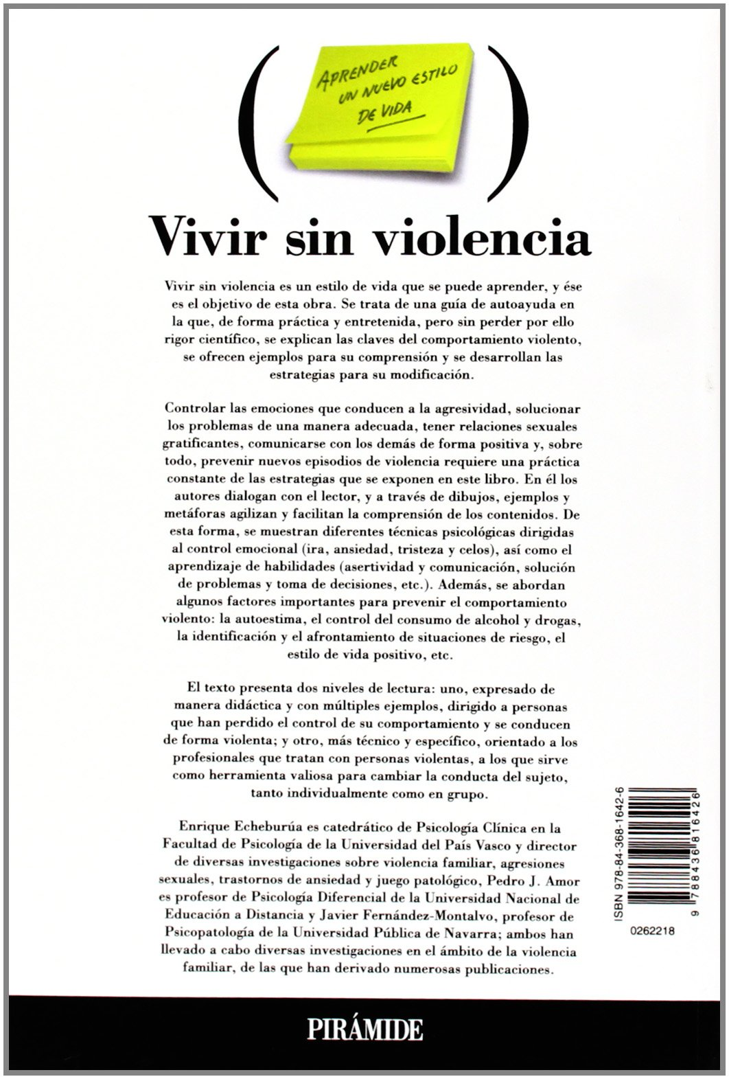 Vivir Sin Violencia / Living Without Violence: Aprender Un Nuevo Estilo De Vida / Learning a New Style of Life (Psicologia / Psychology) (Spanish Edition): ...