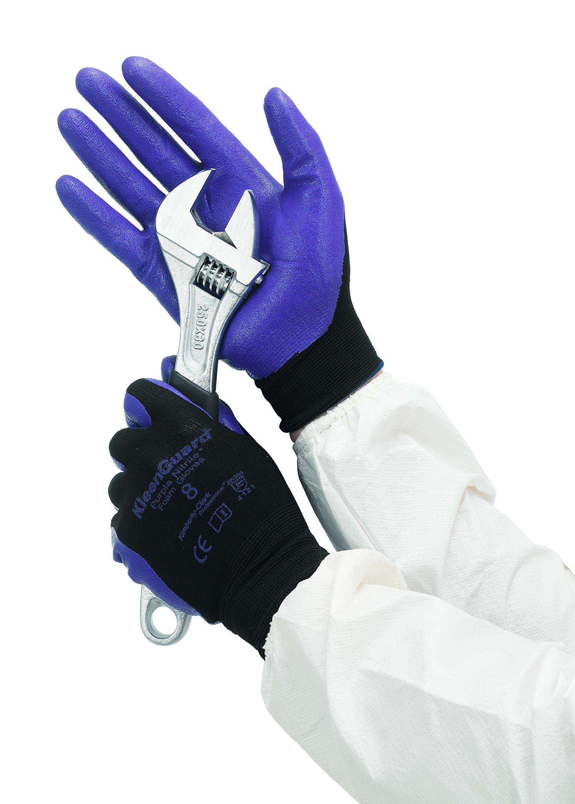 Jackson Safety G40 Foam Nitrile Coated Gloves (40228), XL, Abrasion Resistant Black & Blue Nitrile Grip Glove, 12 Pairs/Bag, 5 Bags/Case by Jackson Safety