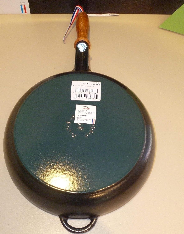 Staub Frying Pan Sartén de Hierro, Fundido, Negro, 24 cm: Amazon.es: Hogar