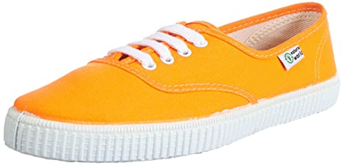 Natural World INGLES - Zapatillas de casa de lona infantil, color naranja, talla 30: Amazon.es: Zapatos y complementos