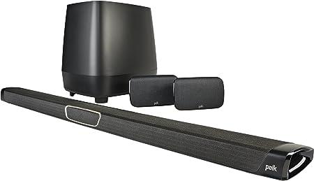 Polk Audio Magnifi Max Sr 5 1 Soundbar System Mit Kabellosem Rear Surround Sound 400 W Schwarz Audio Hifi
