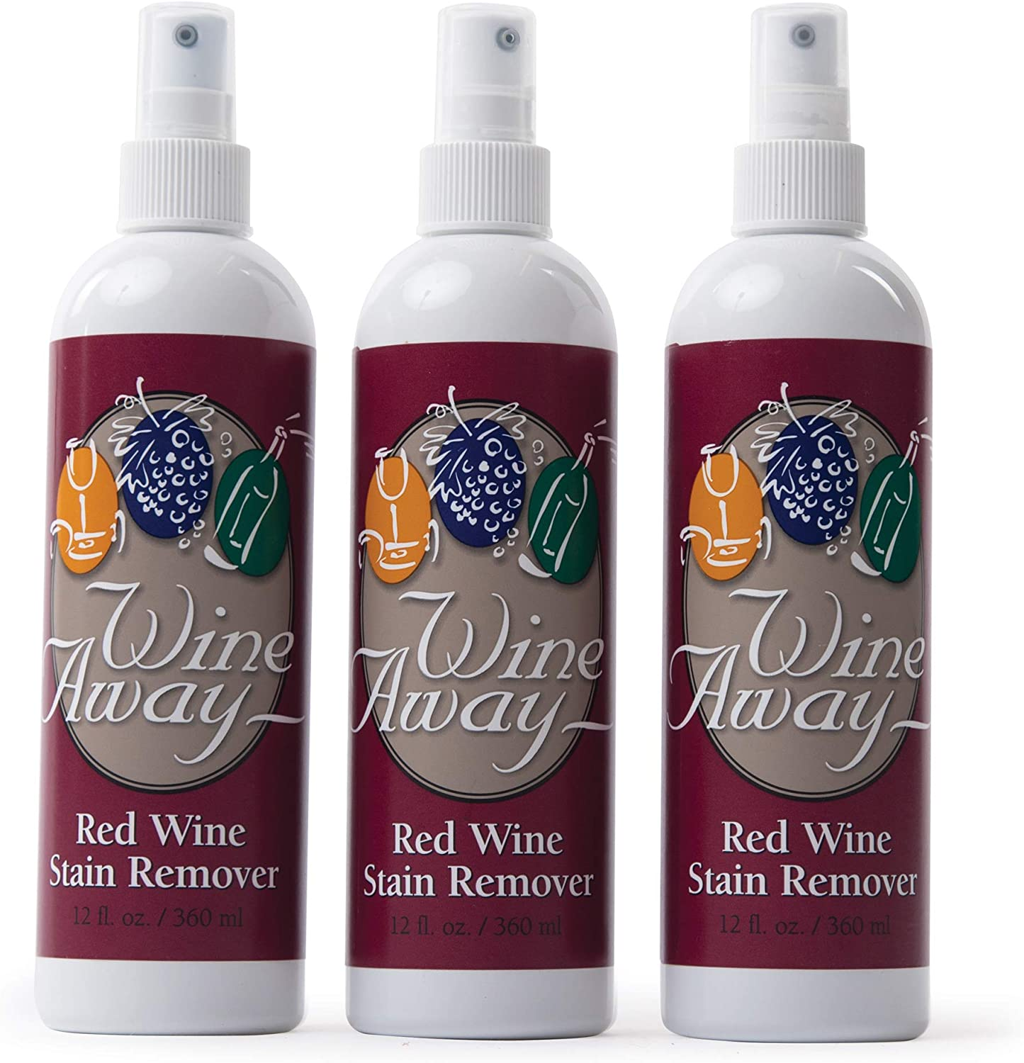 Wine Away Red Wine Stain Remover Perfect Fabric Upholstery And Carpet Cleaner Spray Solution Removes Wine Spots Wine Out Zero Odor Spray And Wash Laundry To